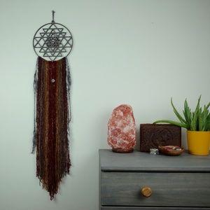 Macrame Wall Hanging / Sacred Geometry Meditation